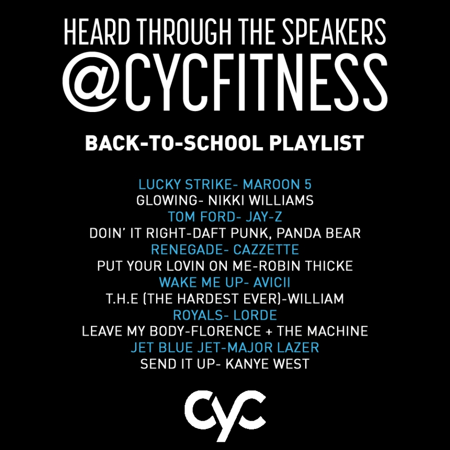 #getcycd with our back-to-school playlist